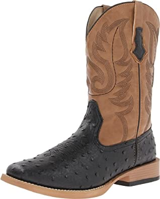 Amazon.com: Roper Men's Basic Square Toe Western Boot: Shoes