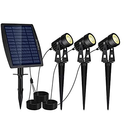 jerayley LED Landscape Solar Spot Lights Waterproof Outdoor Solar Spotlight for Backyard Driveway Patio Gardens Lawn