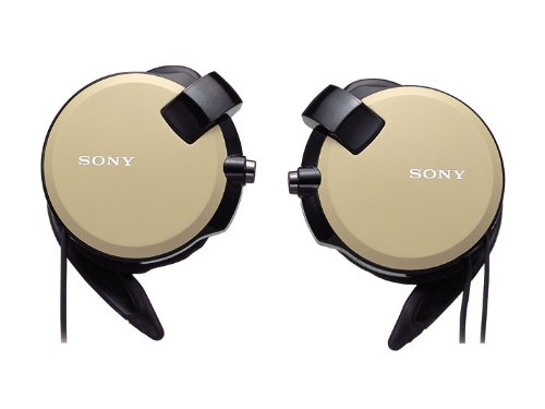 Sony Clip-on Stereo Headphones With Double Retractable Cord | MDR-Q68LW T Brown (Japanese Imports)