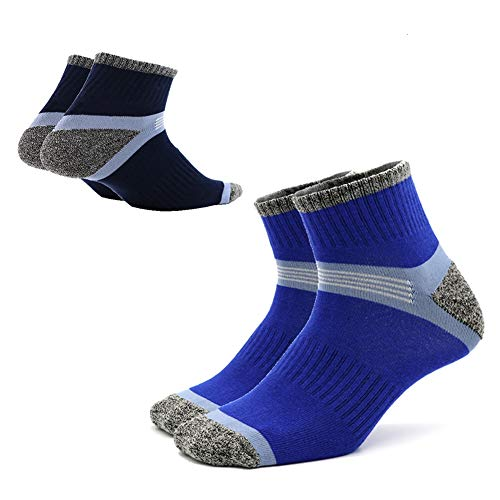 (Mens Crew Socks Athletic Cushioned for Basketball,Soccer,Baseball,Trail Running,Cycling-2 Pairs By Jeopace ...)
