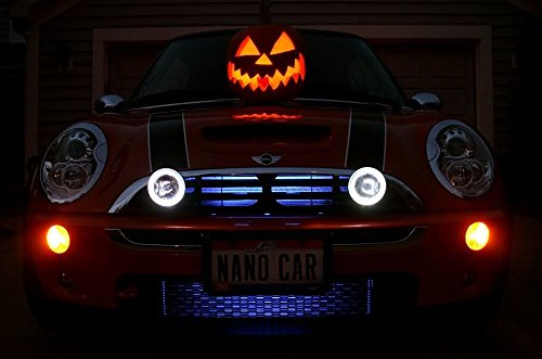 BlingLights Compatible BMW Mini Cooper/S Grill Angel Eye Halo Fog Driving Lamps 540 Xtreme White Driving