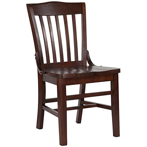 Flash Furniture HERCULES Series School House Back Walnut Wood Restaurant Chair