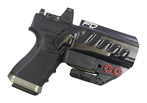 Fierce Defender IWB Holster Glock 19 23 32 w/Tuckable Clip and Claw The Uninfringed Series -Made in USA- Gen 5 Compatible (Veloci Black)