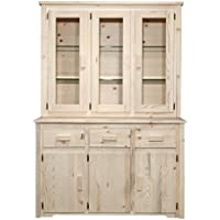 Montana Woodworks MWHCCHLDV Homestead Collection China Hutch & Sideboard, Clear Lacquer Finish