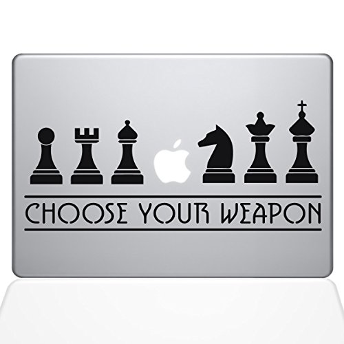 "Price comparison product image The Decal Guru Chess Weapons Macbook Decal Vinyl Sticker  - 13"" Macbook Air - Black (1277-MAC-13A-BLA)"