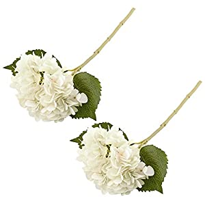 """MARJON FlowersSilk Fake Hydrangea Flower Artificial DIY 18"""" Tall 2 Pack Dining-Table Hotel Party Wedding DIY Craft Fake Flores Marriage Decoration 57"""