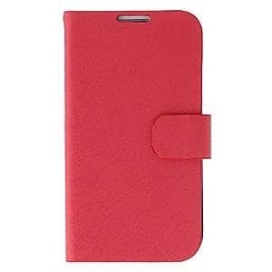 HOR Seda de impresión y Garland Pintura del tirón del patrón bolsas de protección para Samsung i9500 Galaxy S4 , Rosa