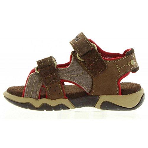 Timberland Park Hopper 2-Strap Infant Plotting Soil Leather Flat Sandals Marron