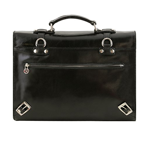 81415584 LEATHER TUSCANY black 3 compartments Exclusive leather case with VIAREGGIO laptop pr4qgp