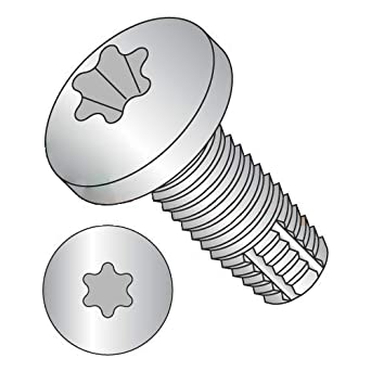 Steel Thread Cutting Screw Pan Head Pack of 3000 1-1//4 Length Type F #12-24 Thread Size Phillips Drive Zinc Plated Finish
