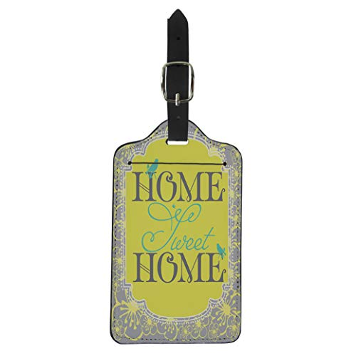 Pinbeam Luggage Tag Love Home Sweet Cottage Family Key Address Apartment Suitcase Baggage ()