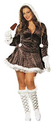 [Dreamgirl Womens Eskimo Cutie Zipper Front Outfit Fancy Dress Sexy Costume, 2XL (16-18)] (Eskimo Cutie Costumes)