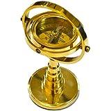 Bússola decorativa em bronze