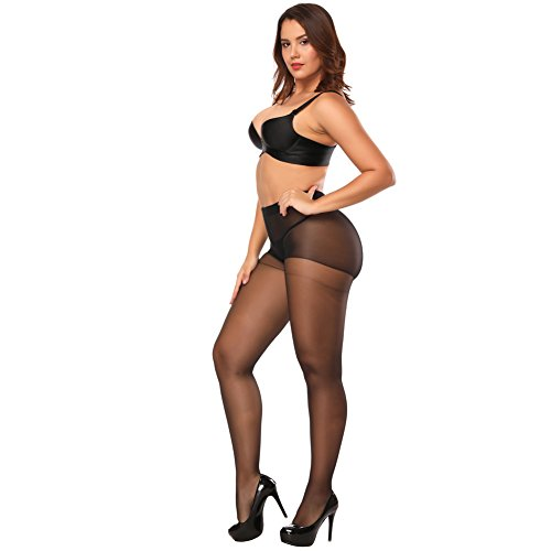 Deksias Women Crotchless Tights for Sex (black) Lingerie Crotchless Pantyhose