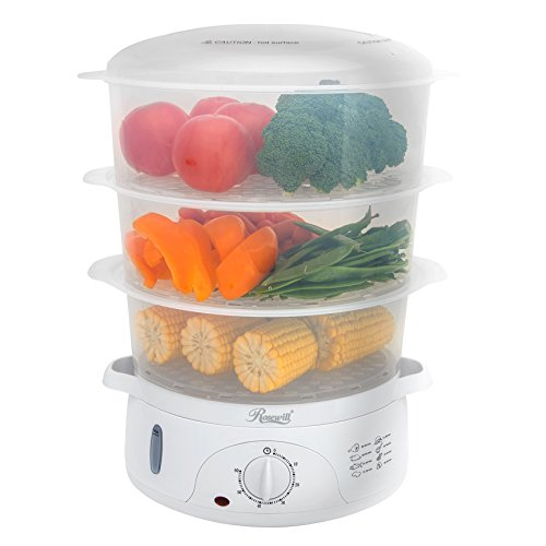 Rosewill Electric Food Steamer 9.5 Quart, Vegetable Steamer with BPA Free 3 Tier Stackable Baskets, Egg Holders, Rice Bowl, RHST-15001 (Dumpling Dog)