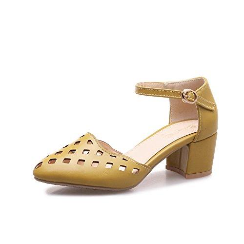Sandales 5 Femme Compensées EU ASL05341 Jaune BalaMasa 36 Jaune v15qRf7xw