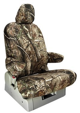 Custom Fit Chevy Tahoe Seat Covers (2003-2006) Rear Seat Set - in Realtree Camo AP print - 60/40 Split Bench w/ Pullout Arm and Large Folding Headrests and Seatbelt in - Bench 60 Folding Split