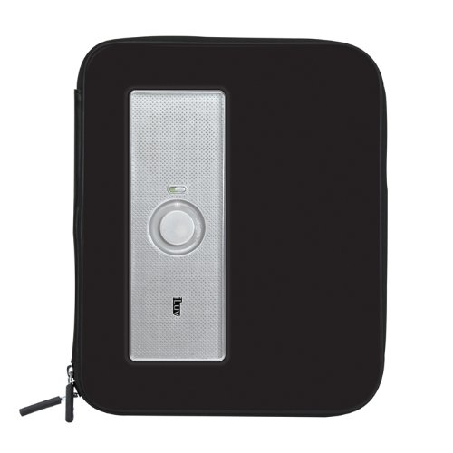 Brand New, iLuv - MusicPac Portable Stereo Speaker Case for iPad and iPad2 Black (Audio - Speakers)