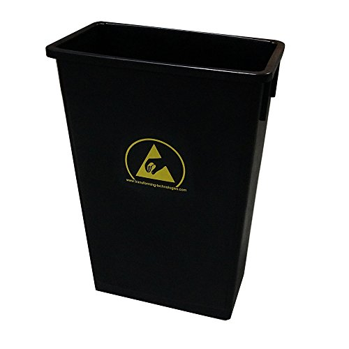 Transforming Technologies ESD Safe Waste Basket, 22 Gallon Black by Transforming Technologies