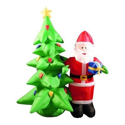 1,8 m hinchable LED Lit árbol de Navidad y Papá Noel: Amazon ...