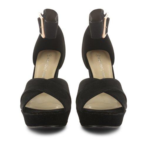 Footwear Sensation - Sandalias de vestir para mujer negro negro negro - negro