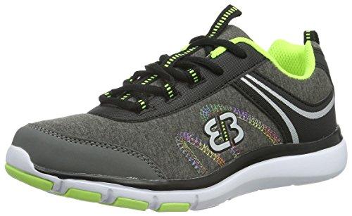 EB kids Bolero, Zapatillas para Niñas Gris (GRAU/SCHWARZ/LEMON)