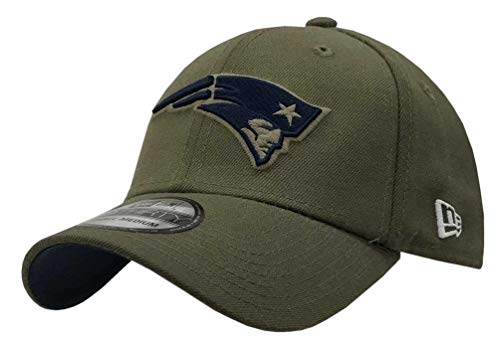 New Era Mens NFL 2018 Salute to Service 39Thirty Flex Fit Hat (Small/Medium, New England -