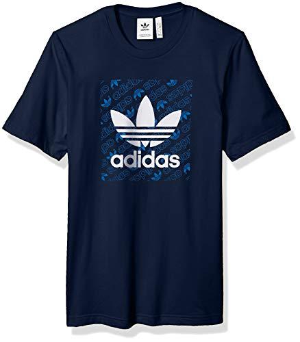 (adidas Originals Men's Mono Square Tee, Collegiate Navy, X-Large)