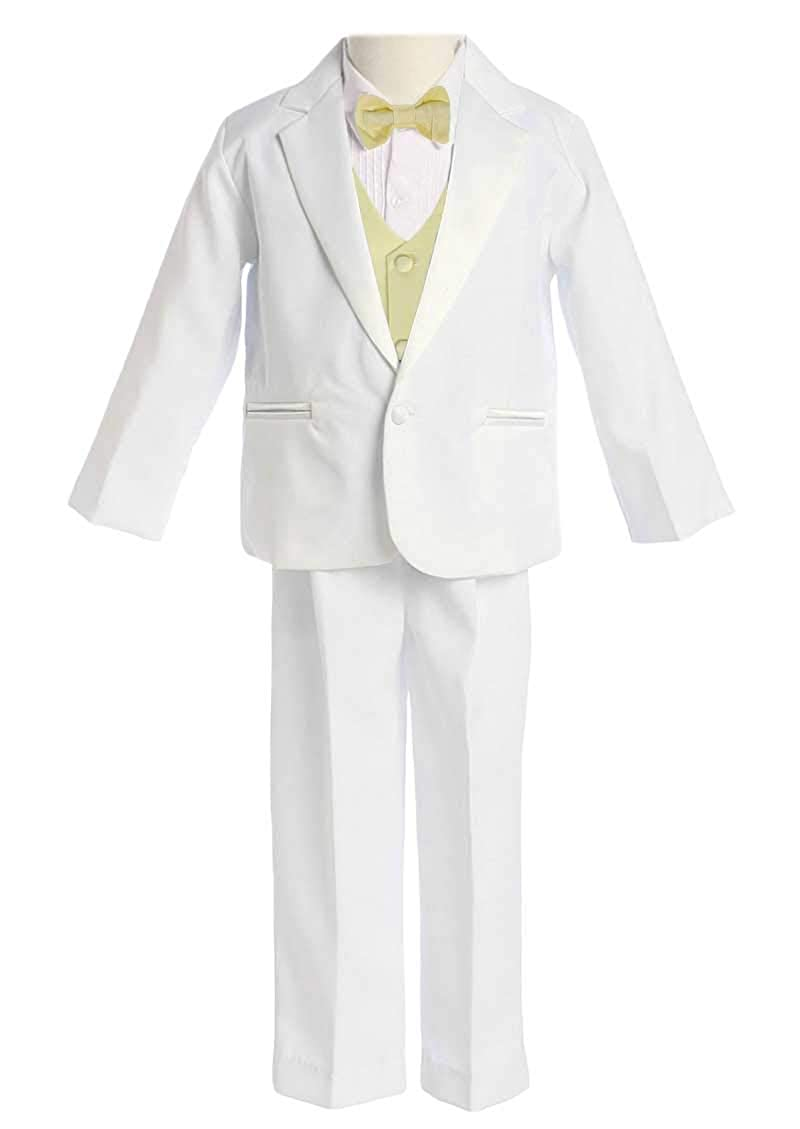 Avery Hill Boys 5-Piece Tuxedo Single Breasted Satin Notch Lapel Many Colors