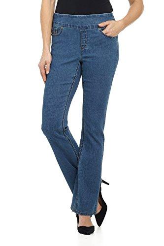 Zipper Pocket Denim Flare Pant - 1