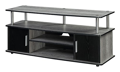 Tv Stands Enclosed - Convenience Concepts 151401WGY Designs2Go Television Stand, Weathered Gray