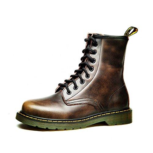 Herren freizeitschuhe kleid bergsteigen herbst outdoor oxford-schuhe stiefel rutschen schwarzbraun-A Fußlänge=38.5EU