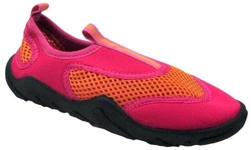 Capelli New York Neoprene & Mesh Girls Aqua Shoes Orange Combo - Shoes Aqua Neoprene