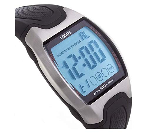 Lorus - Reloj Deportivo Digital con Correa de Resina para Hombre, Color Negro: Amazon.es: Relojes