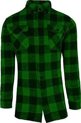 Leñador Camisa / 100% Algodón / espesor Calidad / S - 3XL - verde/negro, L: Amazon.es: Deportes y aire libre