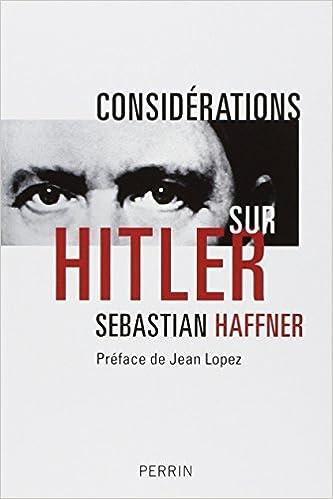 Téléchargement Considérations sur Hitler pdf epub