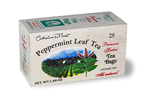 All Natural Premium Ceylon Tea in Wooden Box (peppermint Leaf Tea)