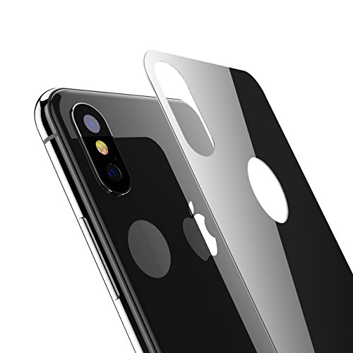 iPhone X Back Screen Protector, Kolpop 3D Full Coverage iPhone X Tempered Glass Back Protector, Anti-Fingerprint Case Friendly Anti-Scrath Slim Back Glass Protector Film For iPhone X/iPhone 10(black)