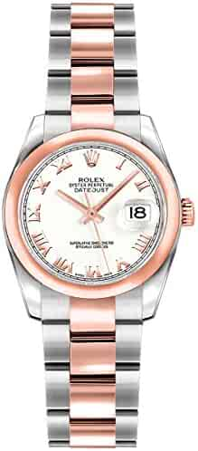 Women's Rolex Lady-Datejust 26 Rose Gold & Stainless Steel Roman Numeral Dial Watch (Ref. 179161)