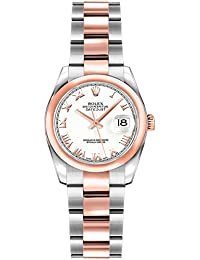 Womens Rolex Lady-Datejust 26 Rose Gold & Stainless Steel Roman Numeral Dial Watch (