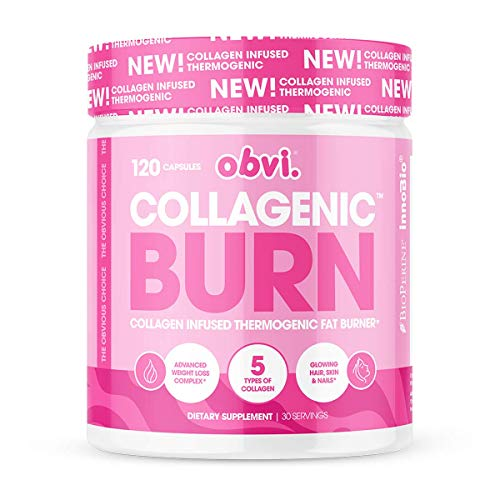 Obvi Collagen Burn Fat Burning Capsules, Collagenic Thermogenic Fat Burner Infused with 5 Types of Collagen, Benefits…