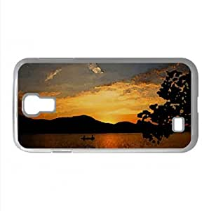 Boating And Fishing Watercolor style Cover Samsung Galaxy S4 I9500 Case (Lakes Watercolor style Cover Samsung Galaxy S4 I9500 Case)