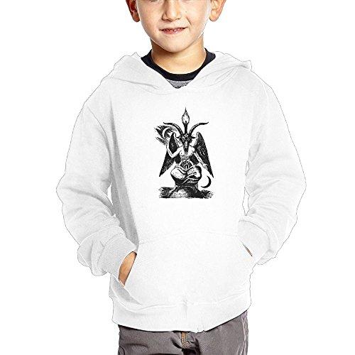 Crali Baphomet Lucifer Devil Boys and Girls Fashion Hoodie Sweatshirt With (Devil Kids Hoodie)