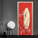 Moon Door Decals Culture Sakura Branch Door