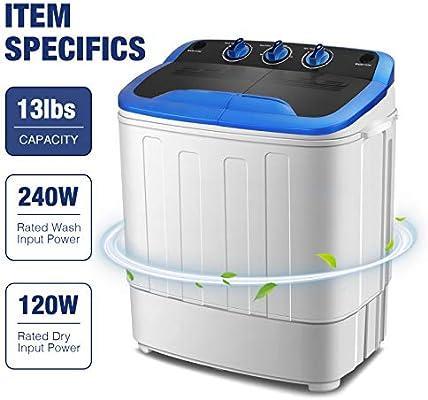 Amazon. Com: kuppet washing machine, portable mini compact twin tub.