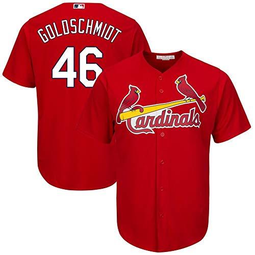 Men's St. Louis Cardinals Paul Goldschmidt Scarlet Cool Base Player Jersey #46 Size XL