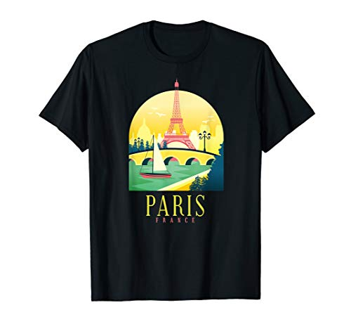 Paris Eiffel Tower T-Shirt USA France Tourist Gift T Shirt -