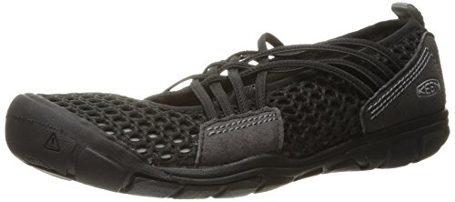 KEEN Women's CNX Zephyr Criss Cross Hiking Shoe, Black/Gargoyle, 10 M US by KEEN