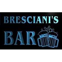 w078867-b BRESCIANI Name Home Bar Pub Beer Mugs Cheers Neon Light Sign