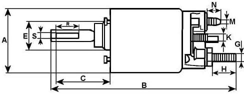 12/V 12/voltios Motor de arranque solenoide sustituye a Hitachi tipo 132094